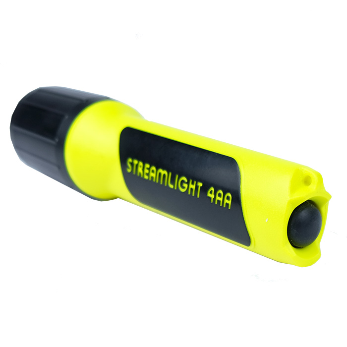 100 Lumens Streamlight 68602 4AA ProPolymer Lux Div 1 Flashlight with White LED Yellow